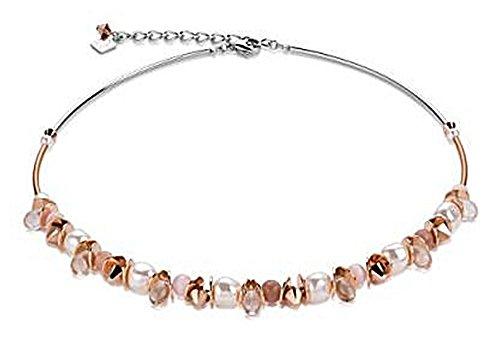 Coeur De Lion Halskette 4863/10-1900 Frontline mit Swarovski Kristalle & Crystal Pearls