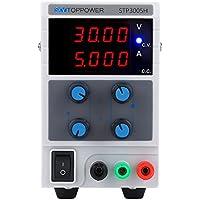 skytoppower stp3005h alimentación DC régulée pantalla ajustable de 4dígitos entrada de la fuente de alimentación 110/220V 0–30V 0–5A (EU)