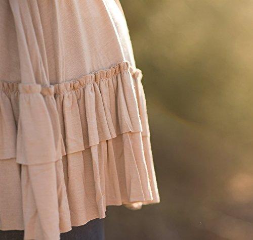 Donna Camicia Elegante Manica Lunga Primavera A Pieghe Rotondo Collo Puro Colore Autunno Blusa Sciolto Casual Top T-Shirt Giallo