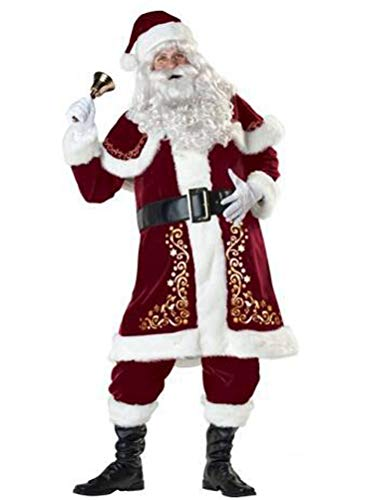 Kostüm Santa Für Erwachsene - ROBO Weihnachtsmann Kostüm Für Erwachsene Cosplay Weihnachten Verkleidung Set