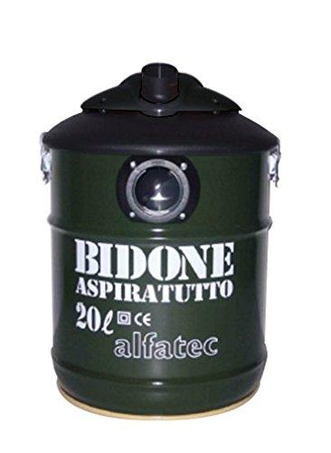 Alfatec Bidone Aspiratutto Professionale 1300 W, Verde Scuro