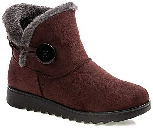 2019 Zapatos Invierno Mujer Botas de Nieve Casual Calzado Piel Forradas Calientes Planas Outdoor Boots...