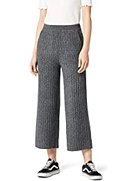 find. Cropped Ribbed Trouser Pantalones Gris Grey d4c0472e90e9