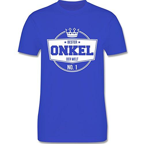 Shirtracer Bruder & Onkel - Bester Onkel der Welt - Herren T-Shirt Rundhals Royalblau
