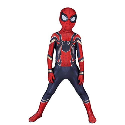 DSFGHE Kinder Spider-Man Cosplay Kostüm Siamesische Strumpfhose Halloween Performance Party Movie Requisiten,L-130