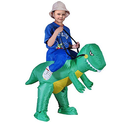 Aufblasbare Kostüm Dinosaurier Kinder - Deanyi Kinder-Halloween-Kostüm Cosplay Aufblasbare Weihnachten Dinosaurier Aufblasbare Kleidung Karneval-Party-Performance Service ohne Batterie Grün