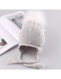 Arcweg Cappello Bambino Invernale Berretto in Maglia con Sciarpa Termico Pile Passamontagna Bambine Ragazzi con Orecchie 40-54Cm