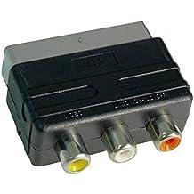 Act Adattatore RCA a SCART - 3 prese phono RCA composite per presa SCART(solo scart da 11 pin ) per collegare la TV a PS2, Wii, Xbox, PlayStation, Gamecube, NES, SNES, videoregistratori e lettori DVD r altro!