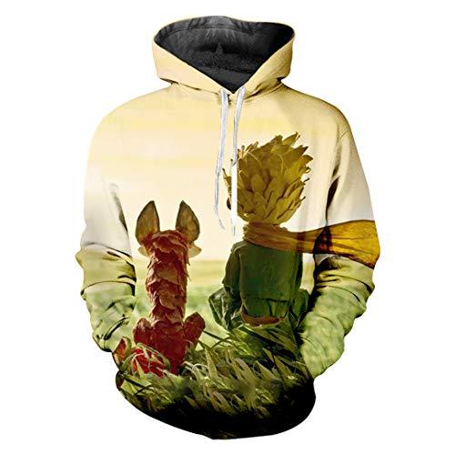 W-WORDEW Bibel KostüMe MäNner Lustige Print Der Kleine Prinz Sweatshirt Anime Hoodies The Little Prince - Wald Prinz Kostüm