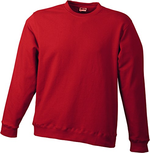 James & Nicholson Herren Basic Sweat Sweatshirt Rot (Burgundy)