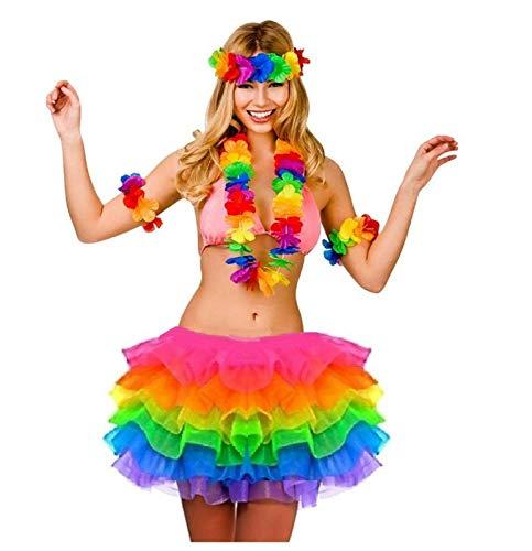 B-Creative LGBTQ Pride Parade Regenbogen 4 Stück Hula und Tutu Schmuck LGBT Parade Party Gay Diversity-Kostüm Zubehör