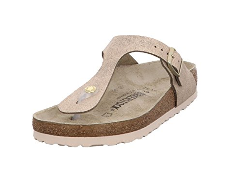 BIRKENSTOCK Gizeh VL Washed Metallic Rose Gold 37 Rose Damen Leder