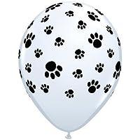 Paw Prints-A-Round Qualatex Latex 11 inch Balloons x 5