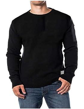 Para hombre Jersey de Matadi de punto cuello redondo Jersey nuevo Chunky de punto 100% algodón S-XL