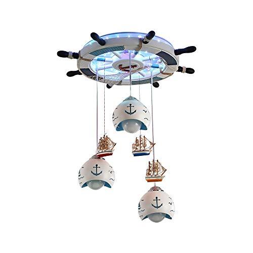 WJS American Mediterranean Boat Rudder Deckenleuchte Europäischen Cute Boy Girl Schlafzimmer LED Kinderzimmer Beleuchtung