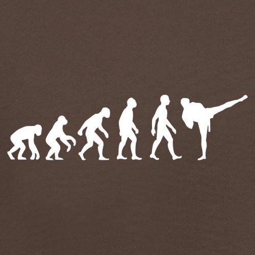 Evolution of Man - Kickboxen - Herren T-Shirt - 13 Farben Schokobraun