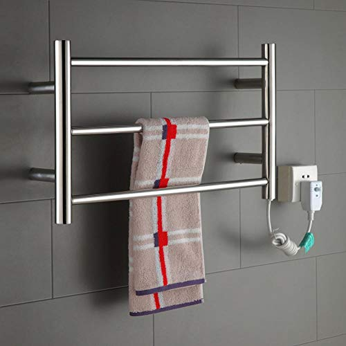 H&L Beheizter Handtuch-Bathroom Radiator Designer Flat Panel Electric Heated Warmer 60 * 660 * 110MM-30W Chrome