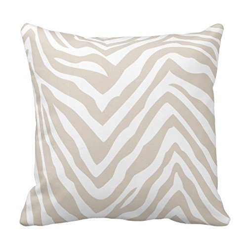 But why miss Beige and White Zebra Stripes Pattern Design Throw Pillow Cover Case Home Decorative Square 18X18 Inches Pink Miss Zebra