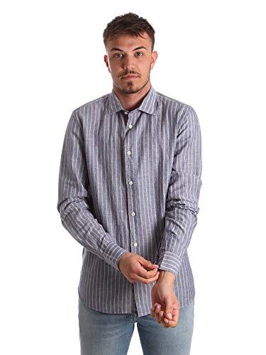 Antony Morato MMSL00520 FA420069 Hemd Man Blau 50 - Blau Französisch Manschette Shirt