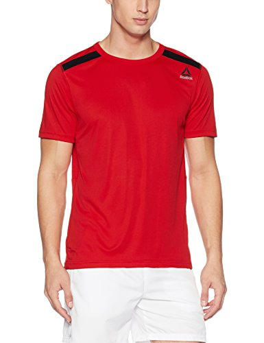 Reebok Herren Wor Tech Top Shirt, Rot (Prired), L (Reebok Shirt Rot)