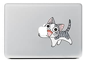 """Vati Feuilles Art amovible Colorful mignon petit chaton vinyle autocollant Decal peau noire pour Apple Macbook Pro Air Mac 13 """"15"""" pouces / Unibody 13 """"15"""" pouces pour ordinateur portable"""