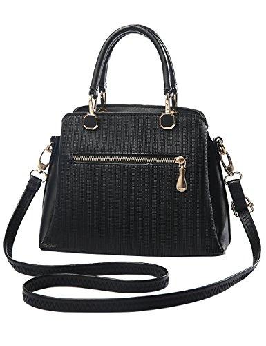 Menschewear Ladies Pu Borse Ladies Handbag Black Handbag School Ladies Borse Red-vienna Black