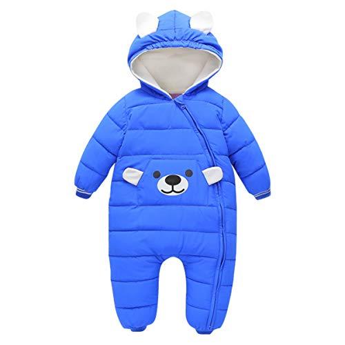 Bebone Baby Schneeanzug Jungen Strampler Mädchen Overall Winter Babykleidung (3-6 Monate,Herstellergr. 70, Blau)