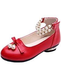 d67e8a371 Yiliankeji Niños Mary Jane - Chicas Sandalias Boda Dama De Honor Baile  Rendimiento Zapatos Escolares Tacón