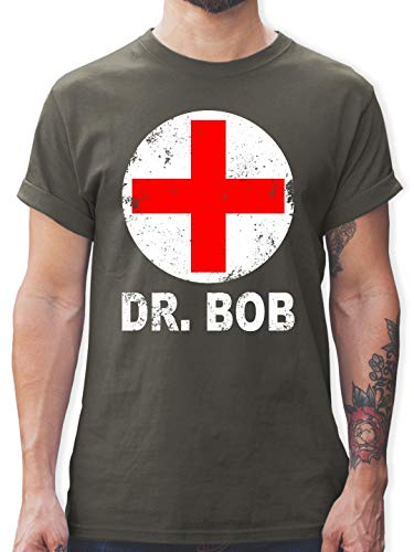 Karneval & Fasching - Dr. Bob Kostüm Kreuz - XL - Dunkelgrau - L190 - Herren T-Shirt und Männer Tshirt