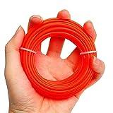 szdc88 1 Rotolo Rosso 2.4mmX 10m Lunghezza Filo Decespugliatore Bobina Montapanna Snipper Decespugliatore Erba Nylon Giardino Trimmer Line (Arancione) - Arancione, Free Size