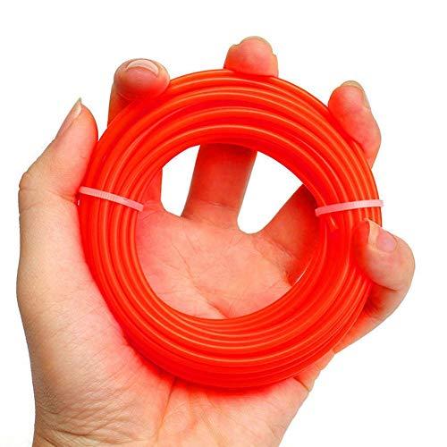 10mx2.4mm Trimmer Schnur Spule Nylon Draht Band Gras Trimmer für 23-35cc Benzin Landschaftsbau Rasentrimmer Maschinen - Orange, Free Size -