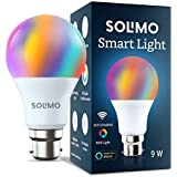 Amazon Brand - Solimo Smart LED Light, 9W, B22 Holder, Alexa Enabled