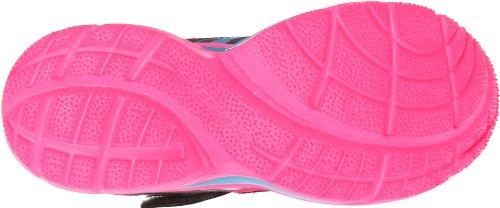 SKECHERS 80426L char multi scarpe bambina elastico strappo rosa Grigio (Gris et rose)