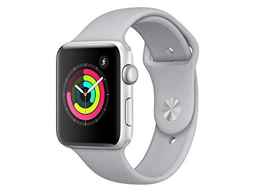 Apple Watch Series 3, 42 mm, Aluminiumgehäuse silber, Sportarmband nebel