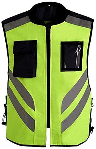 BhuoRZy Sicherheitsweste, Reflective Reit Anzug Reflective Reit Kleidung Motorradreit Anzug Vest reflektierende Weste Fluorescent Yellow reflektierende Weste Tactical Vest (Size : XL)