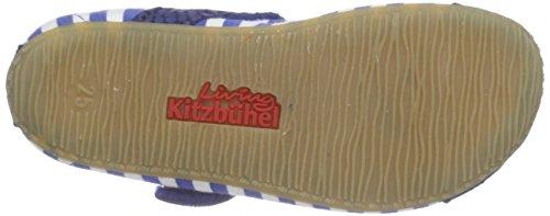 Living Kitzbühel Mädchen Ballerina Blau-Weiß Streifen Flache Hausschuhe Blau (blue coral 563)