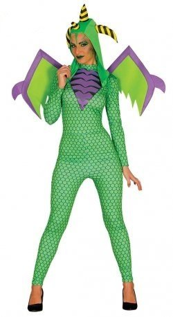 grüner Drache für Damen Einheitsgröße (Drachen Kostüme Erwachsene)