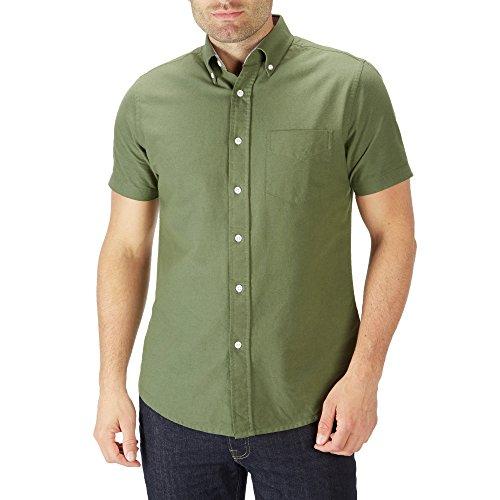 charles-wilson-short-sleeve-oxford-casual-shirt-large-green