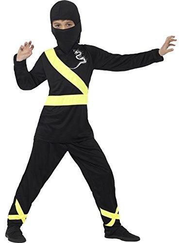der Jungen Ninja Assassin Kostüm, Alter: 4-6 Jahre, Größe: S, schwarz/gelb (Top 5 Halloween Kostüme Für Jungen)