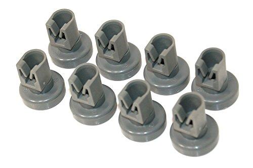 8 Stück x universelle Geschirrspülerkorbräder Spülmaschine Unterkorbrollen (geeignet für Electrolux, Zanussi, AEG, Favorit, Juno, Privileg, Fortschrit by RIVENBERT