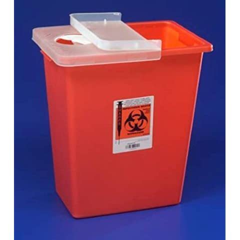 Kendall SharpSafety Chemotherapy Sharps Container - Sku KND8980_CS10 by Kendall