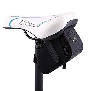 sela de selim de saco de sela zjchao ciclismo à prova d'água para bicicletas de montanha e estrada pacote de assento (preto)