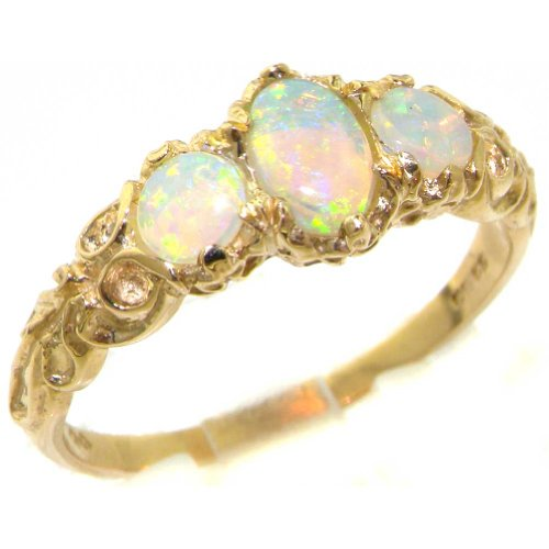10ct-yellow-gold-natural-opal-womens-trilogy-ring-size-w-sizes-j-to-z-available