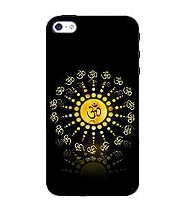 HiFi Designer Phone Back Case Cover Apple iPhone SE ( Om Trance Look Shiva OM )