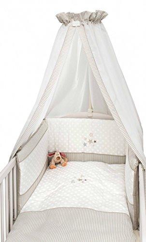 Bebe, Baby Möbel (Bebe's Collection 204-80 Bett Set 3-tlg. Glitzer-Sterne)