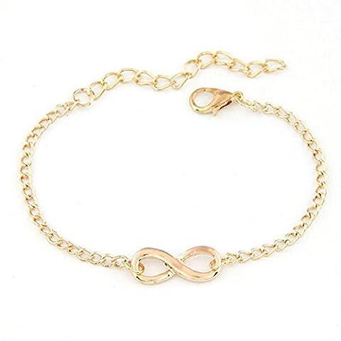 Necklace Choker Bracelet, Transer® New Women Necklace Men Handmade Gift Charm 8 Shape Gold Silver Jewelry Infinity Bracelet (Gold)