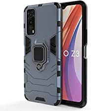 MOONCASE Case for Vivo Y73s, Dual Layer Hybrid Shockproof Protective Case with Ring Stand & Magnetic Car M