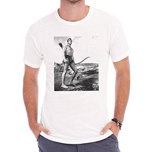 Gordon Scott In Tarzan The Magnificent 1960 Herren T-Shirt Weiß
