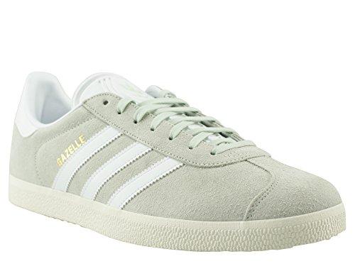 adidas Gazelle, Scarpe da Ginnastica Basse Uomo Verde (Linen Green/footwear White/gold Metallic)