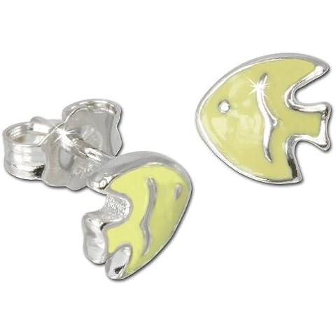 Teenie-Weenie SDO8100W–Orecchini per bambini pesce giallo in argento Sterling 925orecchini bambini drachensilber SDO605Y